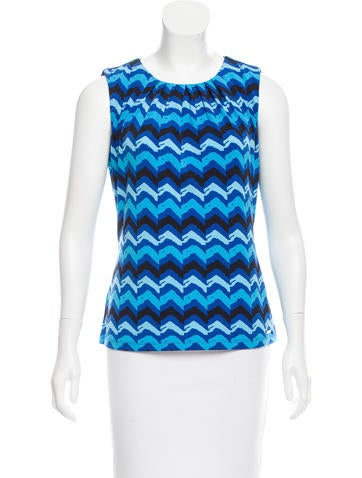 Calvin Klein Collection Printed Sleeveless Top None