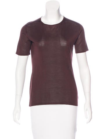 Calvin Klein Collection Silk Knit Top None