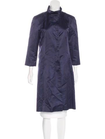 Calvin Klein Collection Silk Knee-Length Coat None