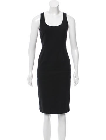 Calvin Klein Collection Scoop Neck Sheath Dress None