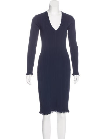 Calvin Klein Collection Knit Midi Dress None