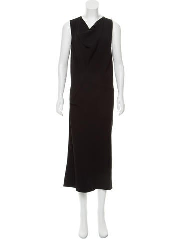 Calvin Klein Collection Cowl Neck Midi Dress None