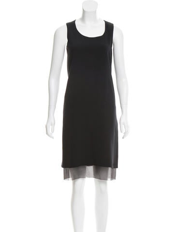 Calvin Klein Collection Sleeveless Silk Dress None