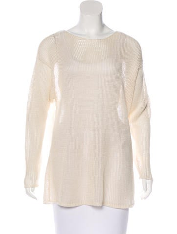 Calvin Klein Collection Open-Knit Oversize Sweater None