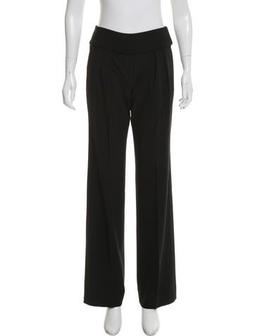 Calvin Klein Collection Wool Mid-Rise Pants None