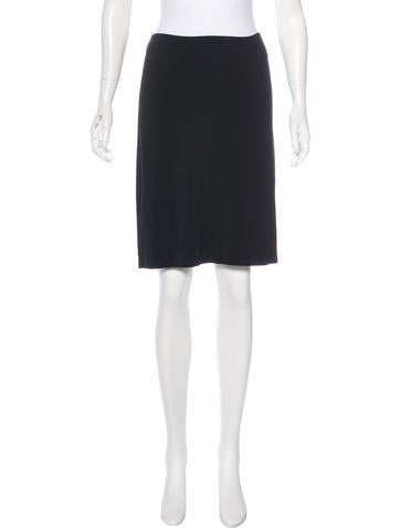 Calvin Klein Collection Knee-Length Stretch-Knit Skirt None