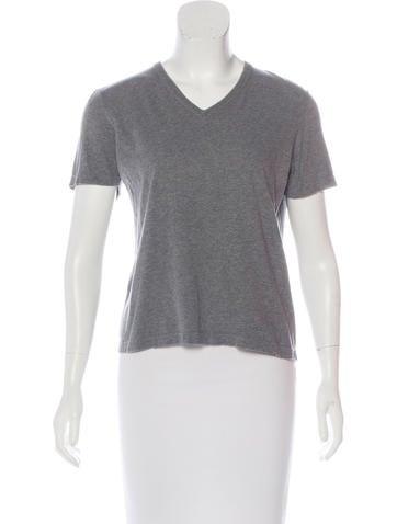 Calvin Klein Collection V-Neck Short Sleeve T-Shirt None