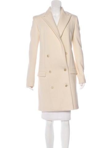 Calvin Klein Collection Wool Notch-Lapel Coat None