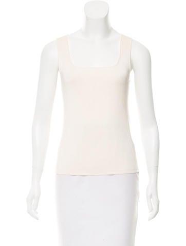 Calvin Klein Collection Sleeveless Scoop Neck Top None