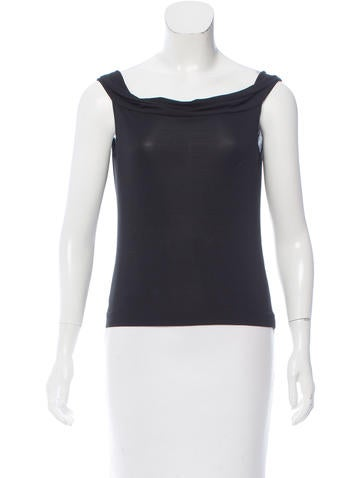 Calvin Klein Collection Sleeveless Knit Top None