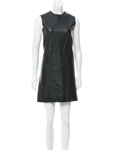 Calvin Klein Collection Leather Shift Dress None