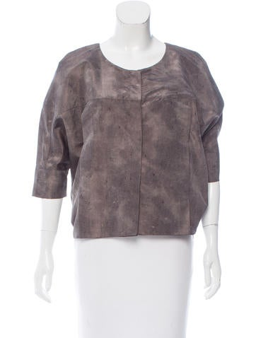 Calvin Klein Collection Printed Silk Top None