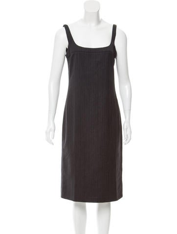 Calvin Klein Collection Sleeveless Wool Dress None