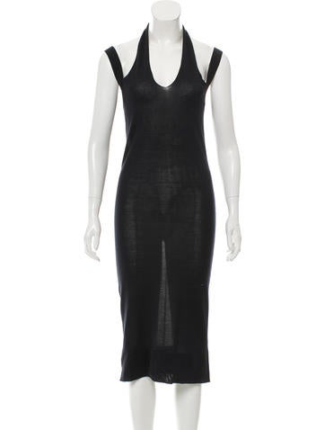 Calvin Klein Collection Silk Midi Dress w/ Tags None