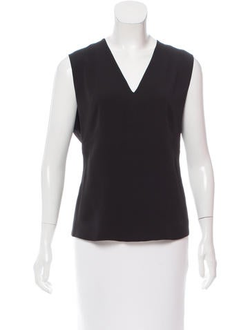 Calvin Klein Collection Sleeveless Silk Top None