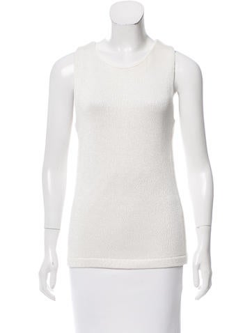 Calvin Klein Collection Textured Sleeveless Top None
