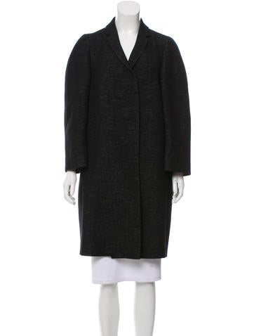 Calvin Klein Collection Wool Knee-Length Coat None