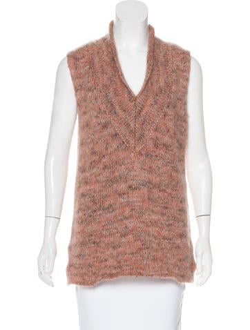 Calvin Klein Collection Mohair Sleeveless Sweater None