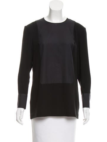 Calvin Klein Collection Contrasted Long Sleeve Top None