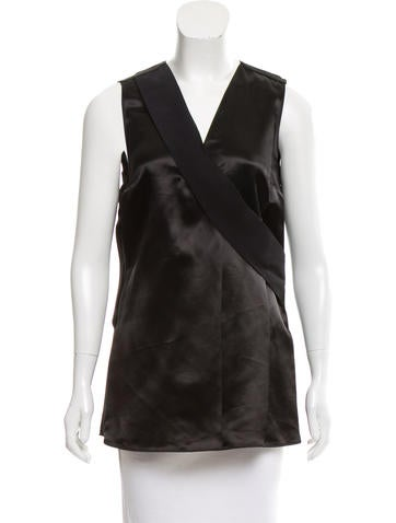 Calvin Klein Collection Sleeveless Contrasted Top None
