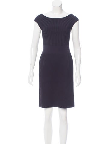 Calvin Klein Collection Rib Knit Mini Dress None