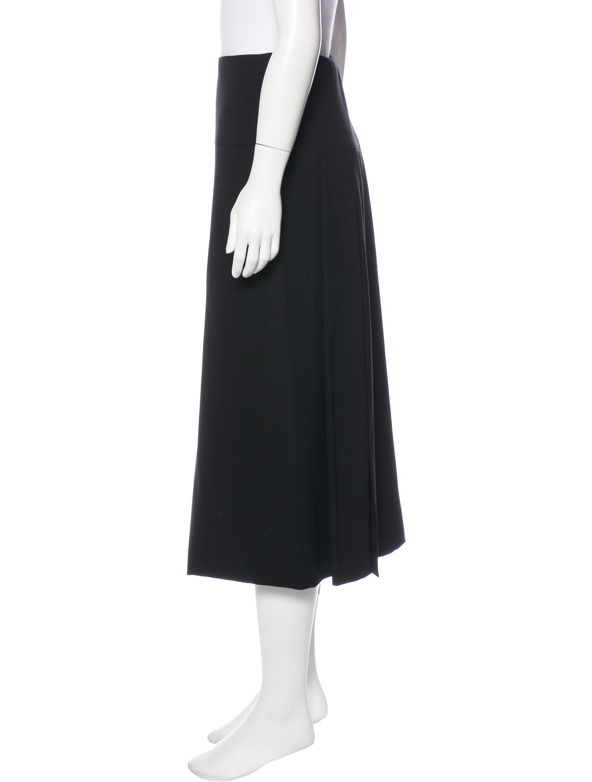 calvin klein collection wool midi skirt clothing