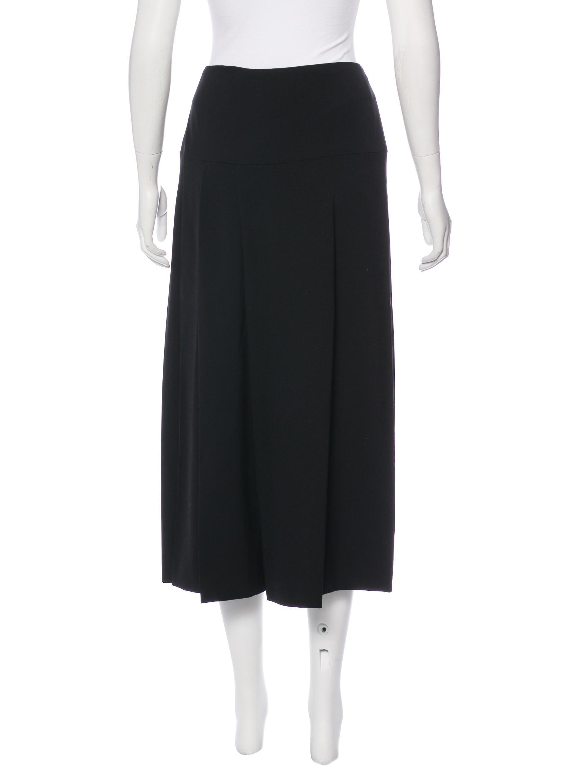 calvin klein collection wool midi skirt clothing