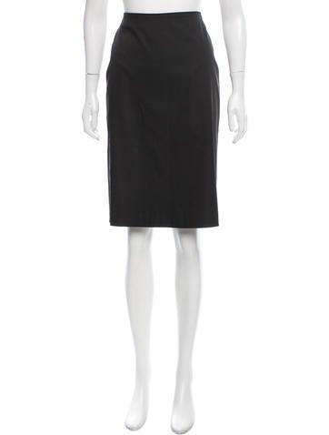 Calvin Klein Collection Knee-Length Silk Skirt None
