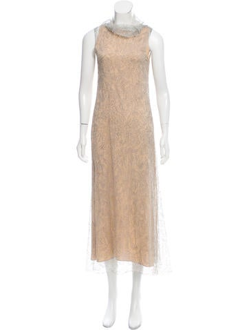 Calvin Klein Collection Metallic Sleeveless Dress None