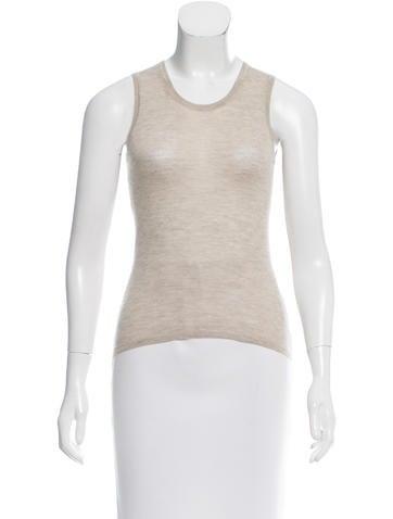 Calvin Klein Collection Sleeveless Cashmere Top None