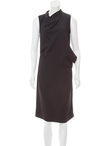 Calvin Klein Collection Sleeveless Draped Dress w/ Tags None