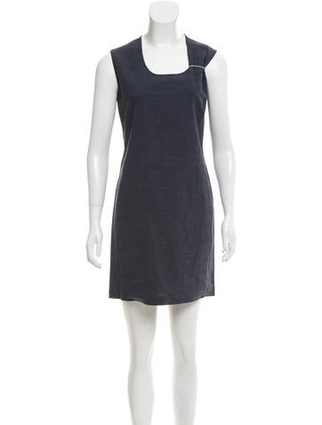 Calvin Klein Collection Scoop Neck Shift Dress w/ Tags None