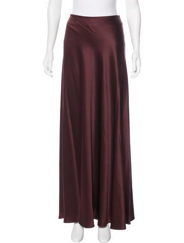 Calvin Klein Collection Silk Maxi Skirt None
