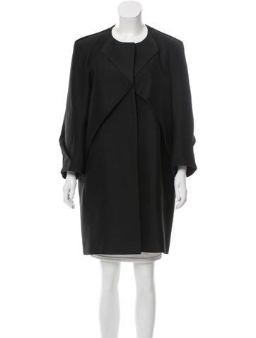Calvin Klein Collection Wool & Silk Coat None