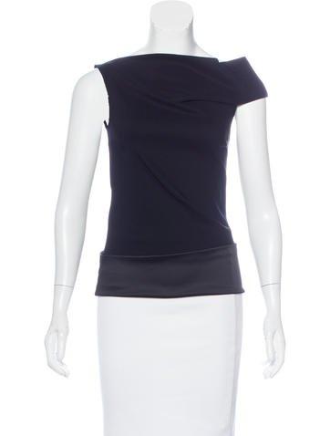 Calvin Klein Collection Sleeveless Off-The-Shoulder Top None