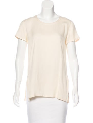 Calvin Klein Collection Silk Button-Up Top None