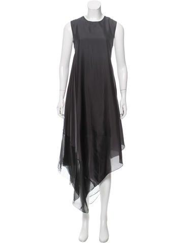 Calvin Klein Collection Silk Asymmetrical Dress None