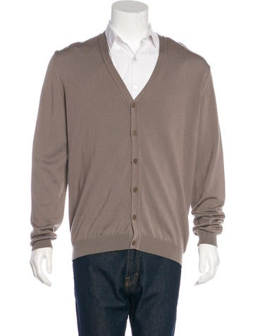 Calvin Klein Collection Wool V-Neck Cardigan None