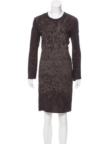 Calvin Klein Collection Printed Crepe Dress w/ Tags None