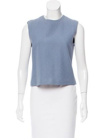 Calvin Klein Collection Wool Sleeveless Top None