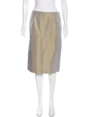 Calvin Klein Collection Silk Taffeta Skirt None