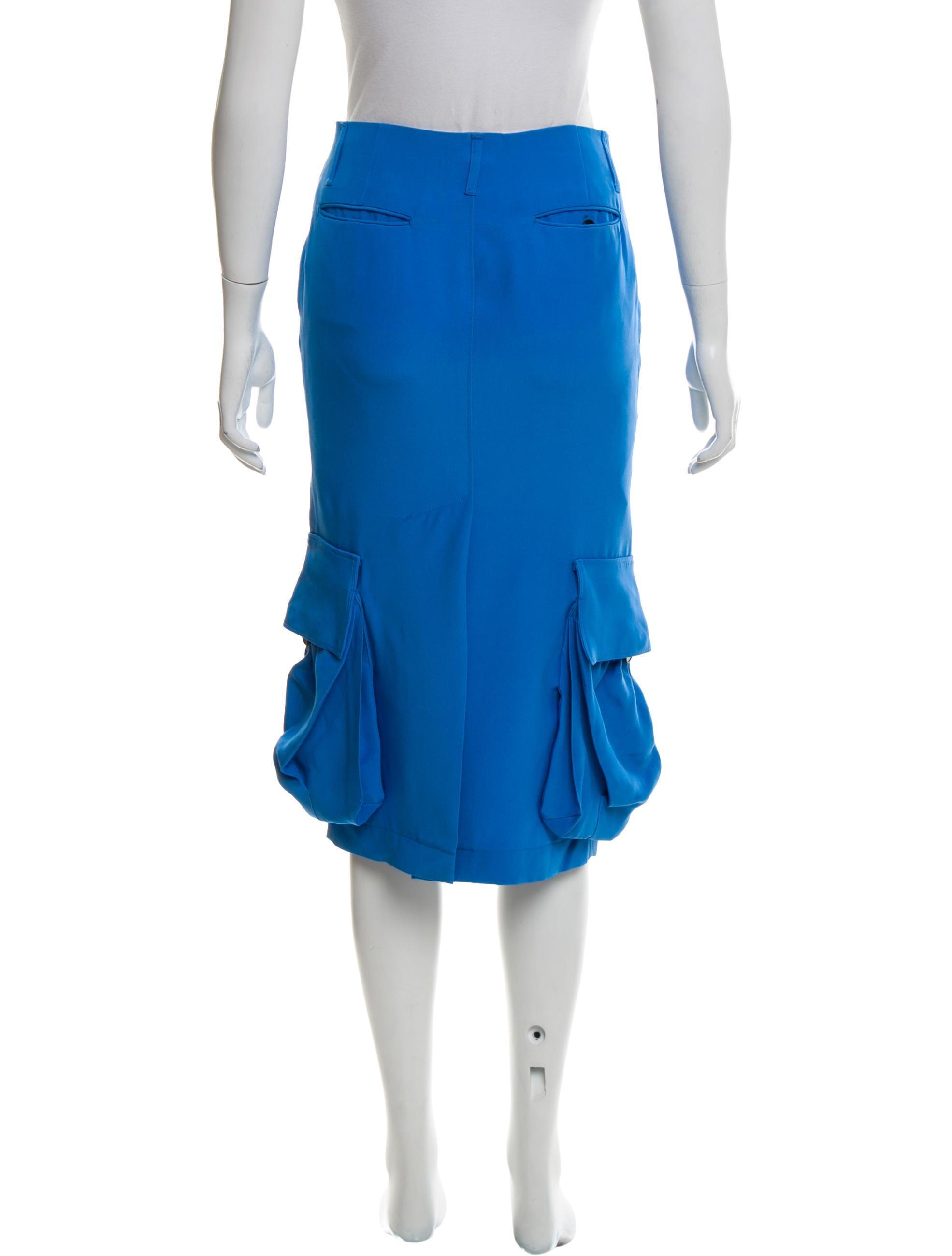 Knee Length Skater Skirt with Full A-line Cut for Women $