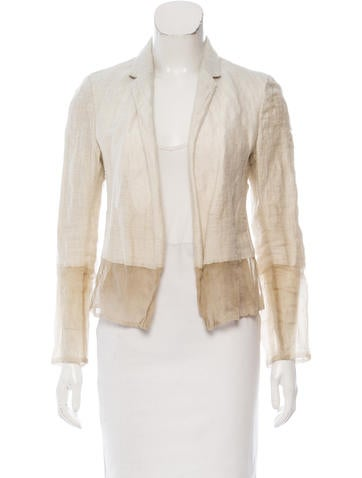 Calvin Klein Collection Wool-Blend Open Front Jacket None
