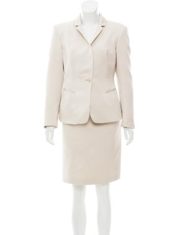Calvin Klein Collection Knee-Length Skirt Suit None