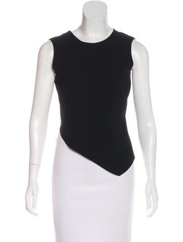 Calvin Klein Collection Wool Asymmetrical Top None