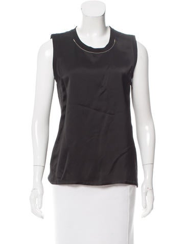 Calvin Klein Collection Sleeveless Scoop Neck Top None