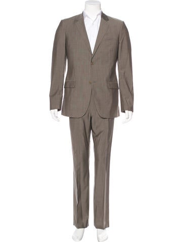 Calvin Klein Collection Wool Two-Button Suit None