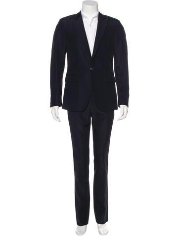 Calvin Klein Collection Textured Peak-Lapel Suit None