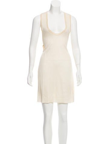 Calvin Klein Collection Rib Knit Racerback Dress w/ Tags None