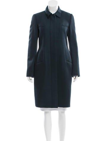 Calvin Klein Collection Silk & Wool-Blend Coat None